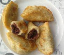 水饺豆沙煎饼